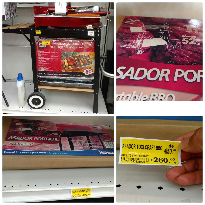 Soriana Hiper Consulado CDMX: Asadores en oferta