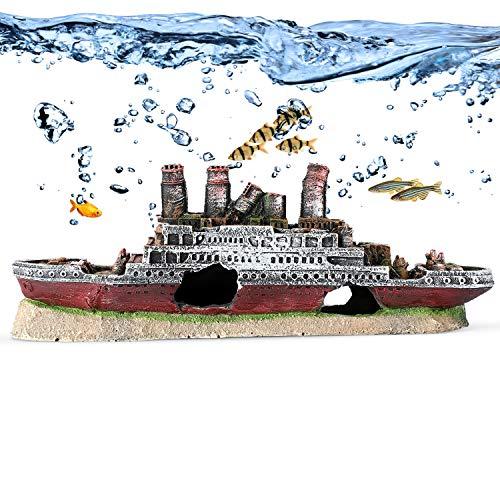 Amazon: YOUTHINK - Adornos de acuario, resina natural, adornos para pecera, decoración para acuario, bricolaje, adorno para esconder peces