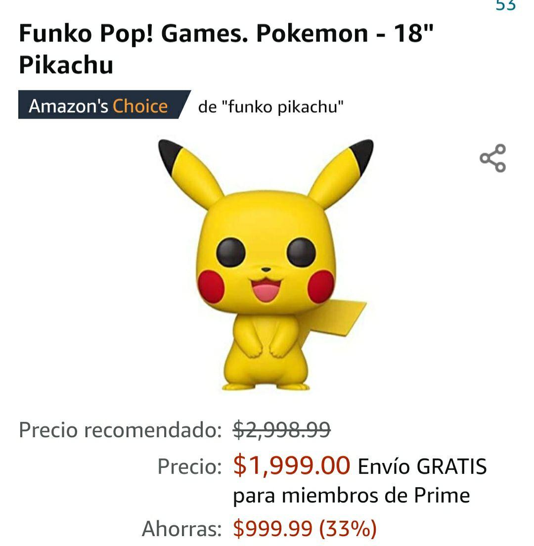 Amazon: Funko Pop! Pikachu 18 pulgadas (el más grandote)