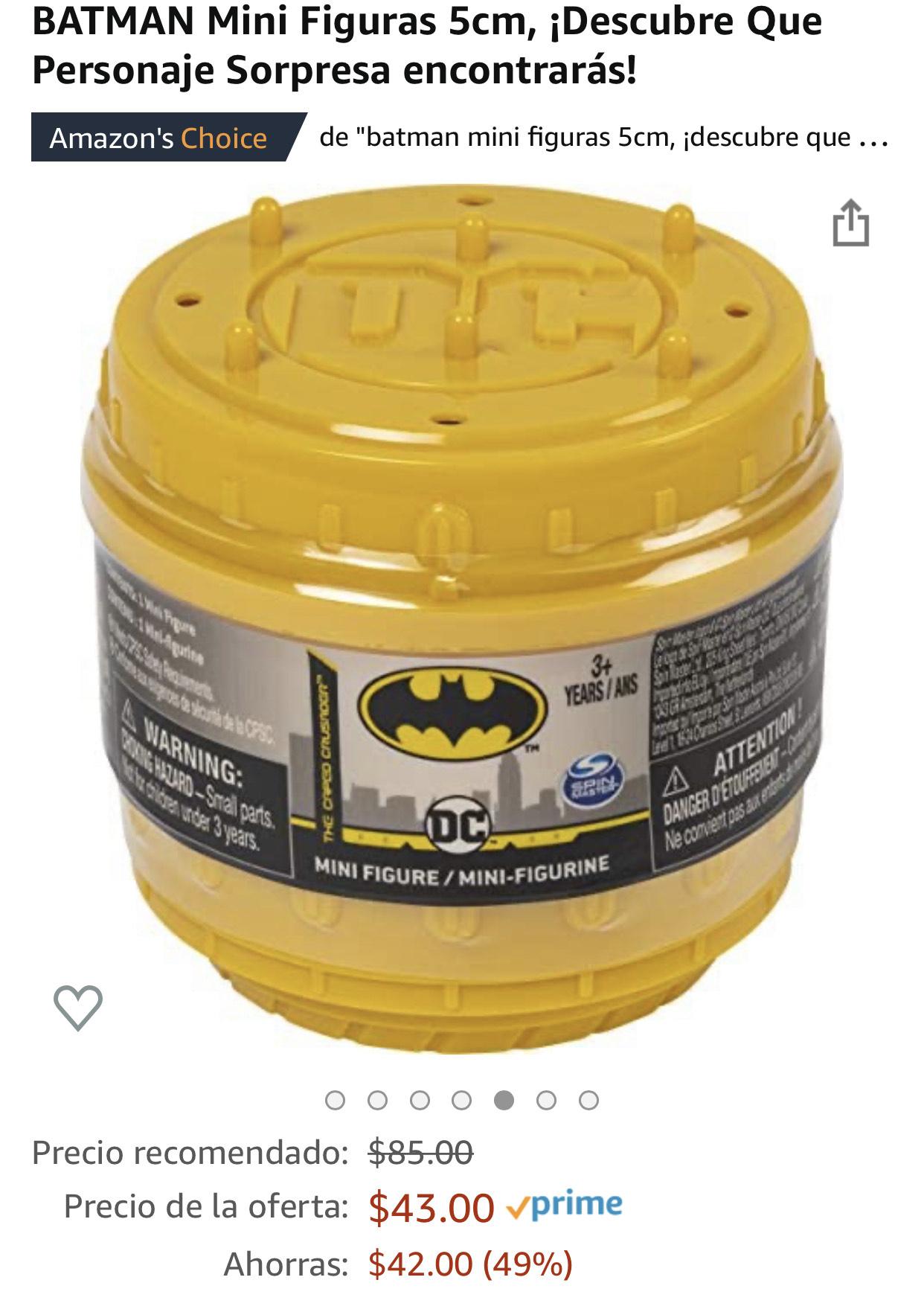 Amazonmx y Liverpool: mini figuras Batman, personaje sorpresa