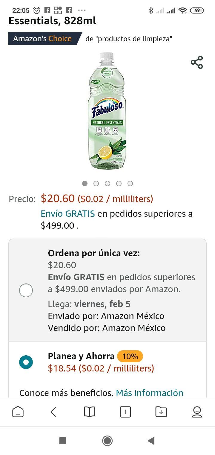 Amazon: Fabuloso essentials