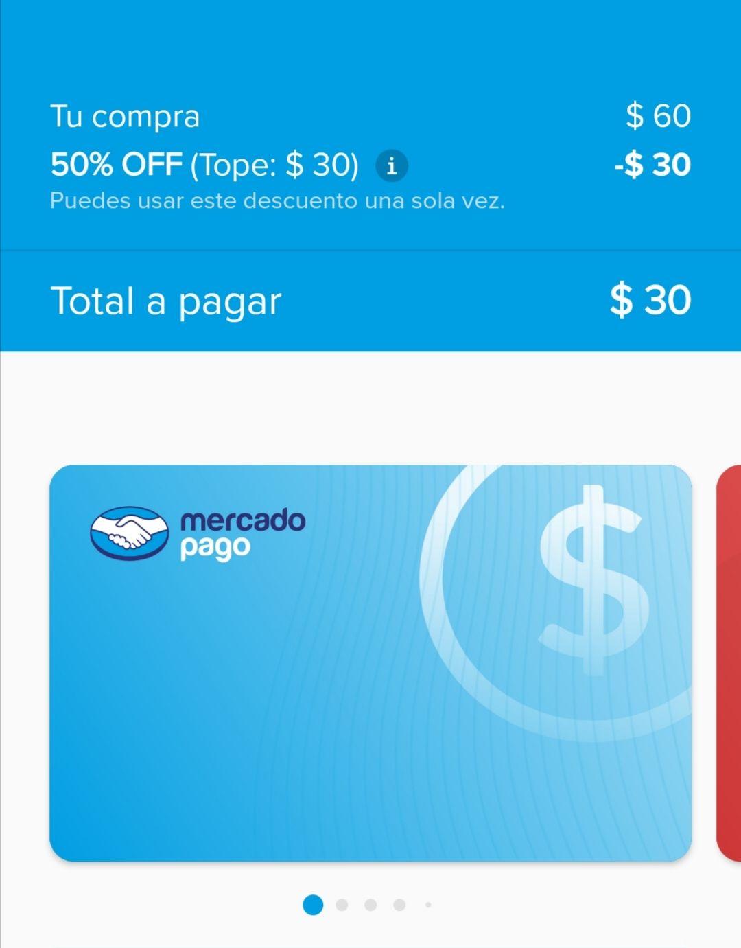 Mercado Pago: 50% de descuento en recargas, cuentas viejas y nuevas (máximo $30)
