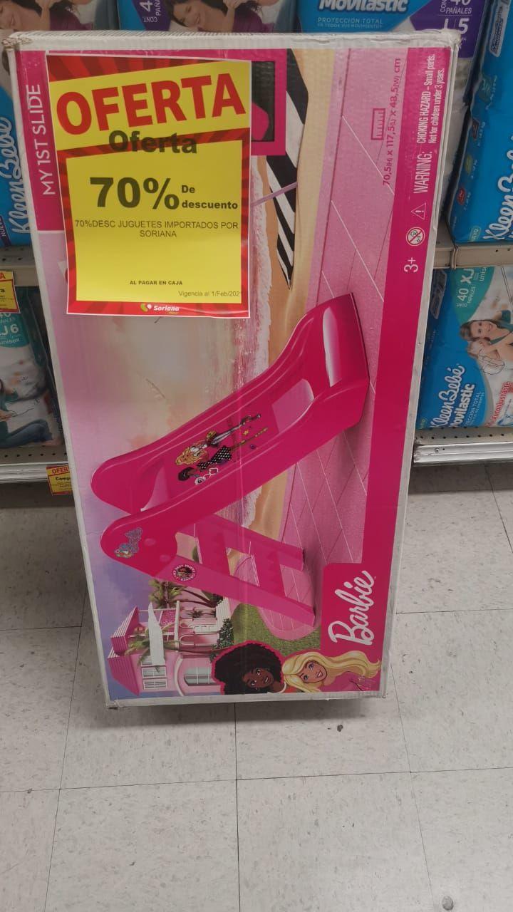 Soriana: Resbaladilla barbie