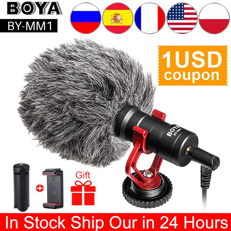 Aliexpres: Microfono Boya BY-MM1 Calidad precio entrada 3.5MM