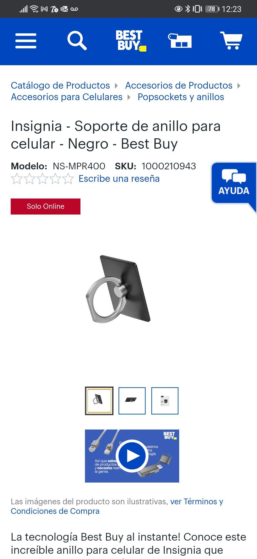 Best Buy: Soporte de anillo para celular