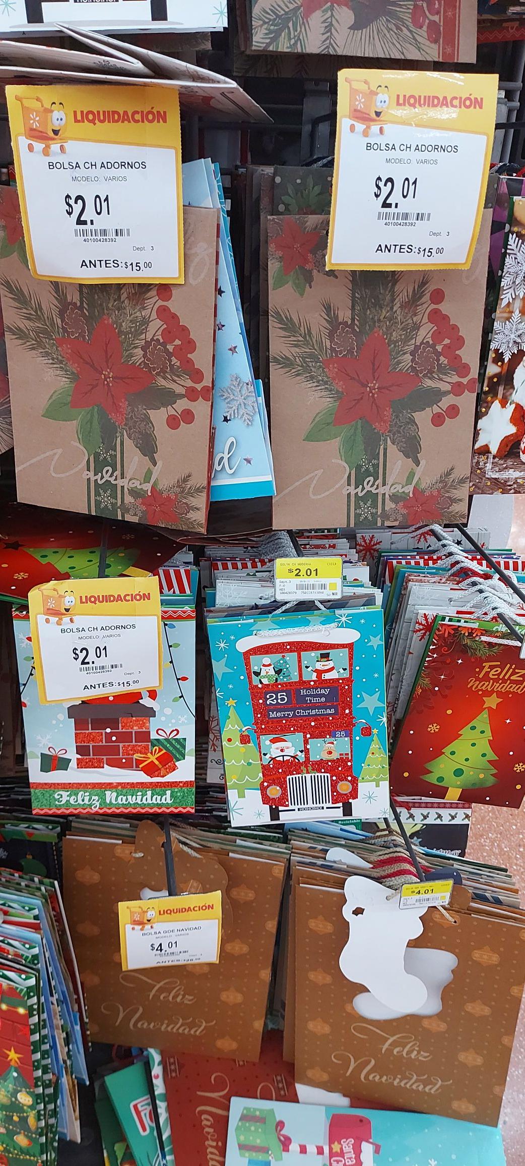 Walmart: Bolsas para regalo desde 2 pesos
