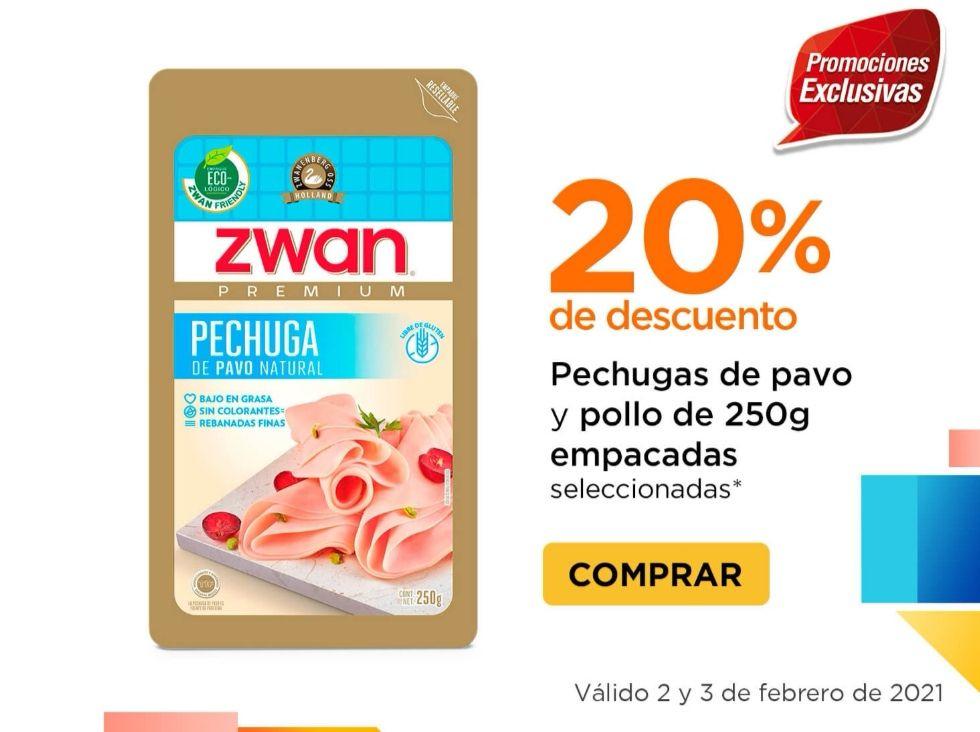 Chedraui: 20% de descuento en pechugas de pavo y pollo de 250 g. empacadas