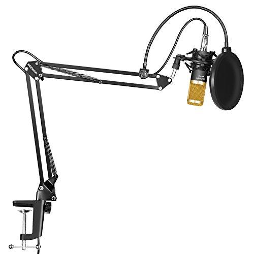 Amazon: Neewer NW-800 Micrófono Condensador Profesional Estudio y NW-35 Micrófono Grabación Ajustable Suspensión Brazo de Tijera Soporte