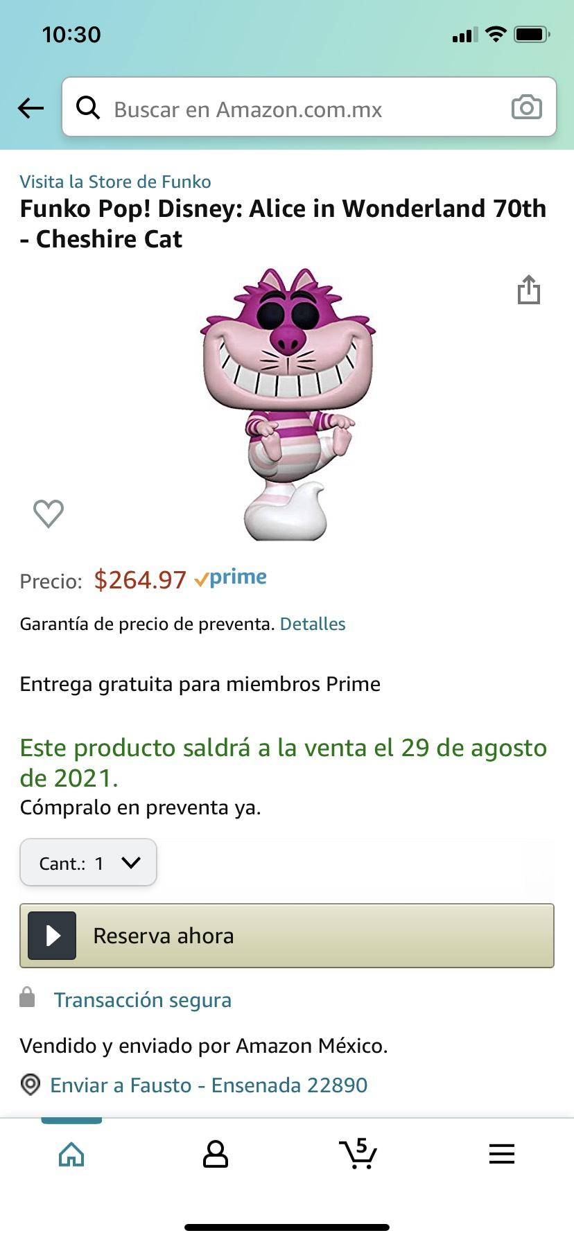 Amazon: Funko Pop! Gato de Alicia en Preventa.