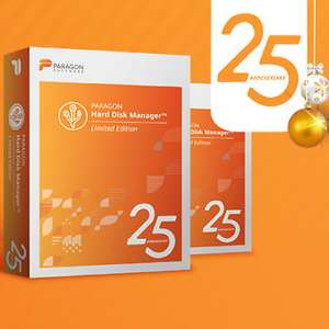 GRATIS Paragon Hard Disk Manager 25th Anniversary Limited Edition