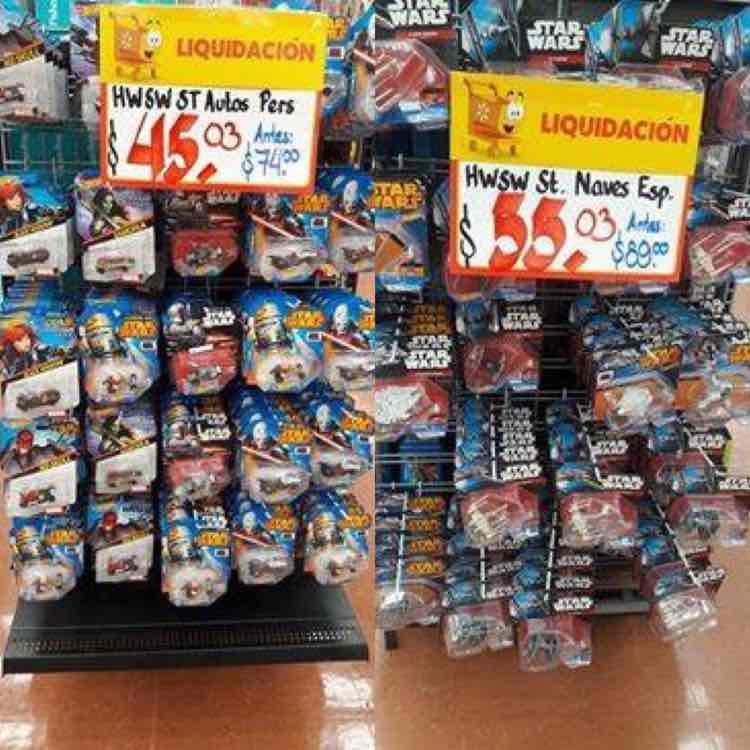 Walmart: Hot Wheels Star Wars en liquidación (naves $53.03 y personajes $45.03)