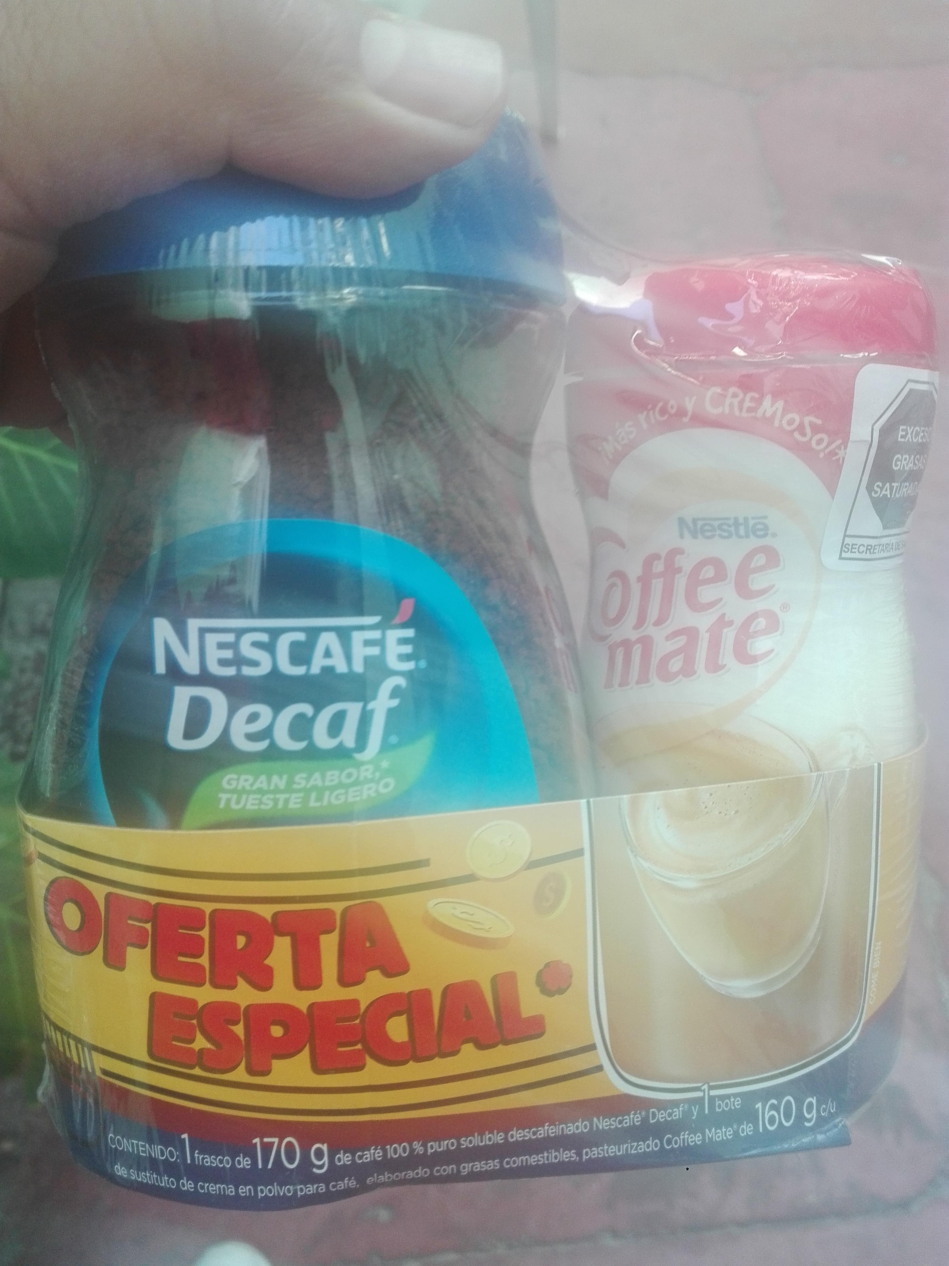 Bodega Aurrerá: nescafe decaf de 170g mas coffe mate