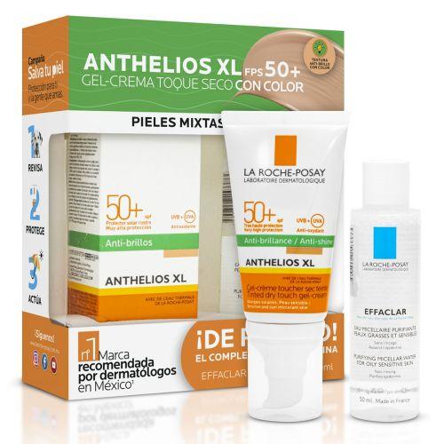 Farmacias del Ahorro: LA ROCHE-POSAY PACK PROTECTOR SOLAR ROSTRO ANTHELIOS TOQUE SECO COLOR FPS 50+