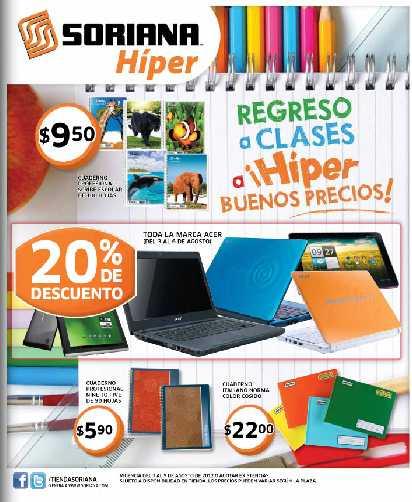 Folleto Soriana agosto 3: 20% de descuento en marca Acer, 2x1 en preservativos Playboy y más
