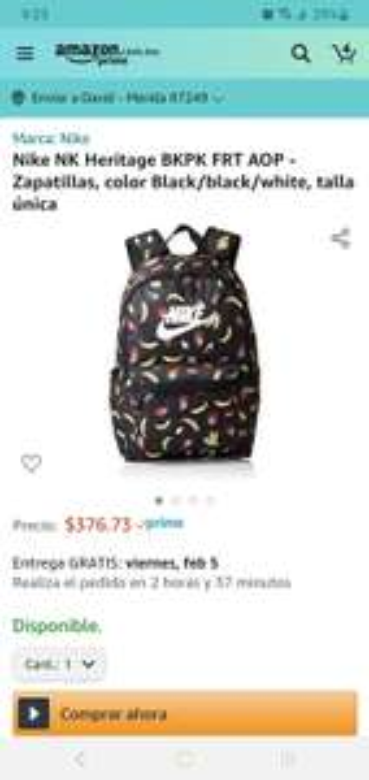Amazon: mochila Nike, de buen tamaño a buen precio