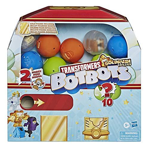 Amazon: Transformers Bot Bots, paquete de 10 con figura dorada asegurada