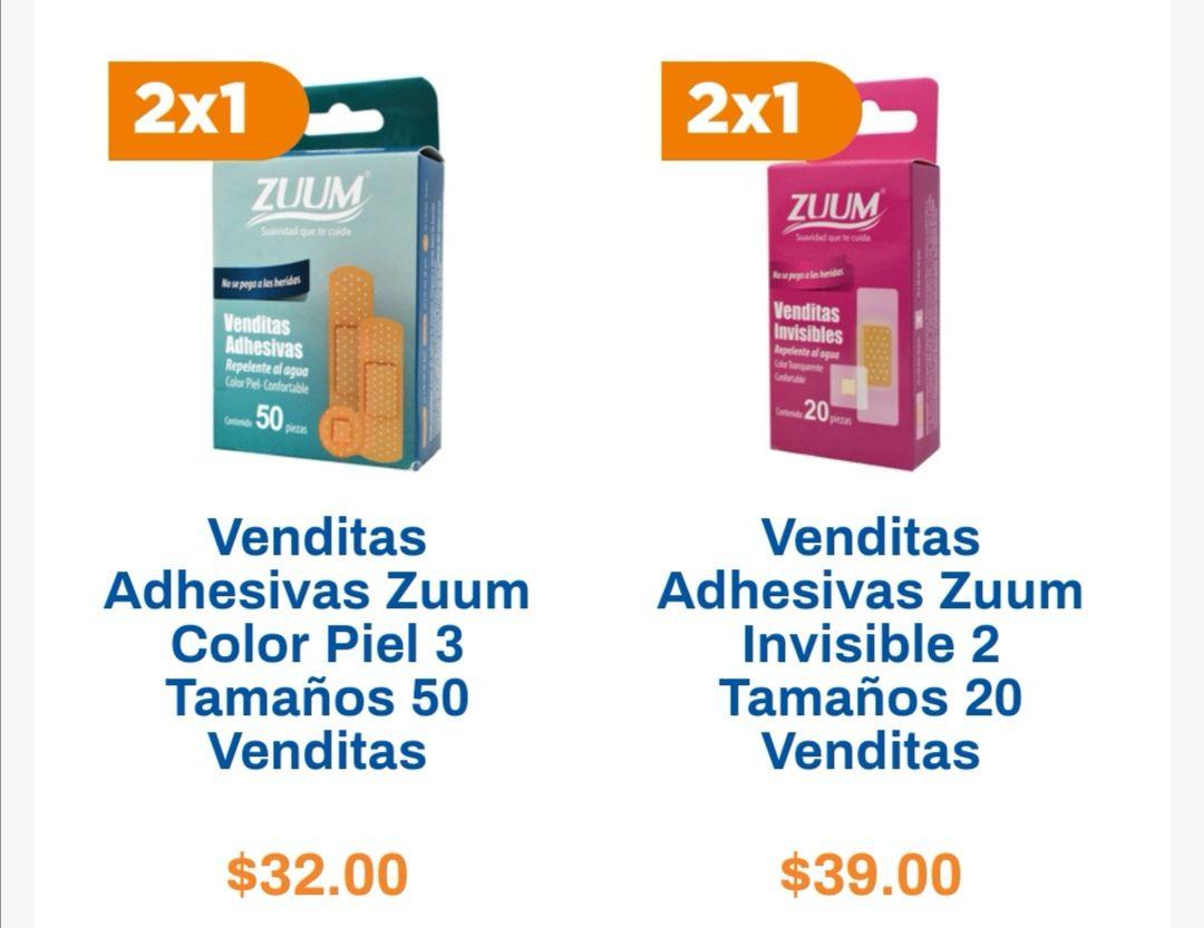 Chedraui: 2 x 1 en banditas adhesivas Zuum 20 o 50 pzs. 3 tamaños