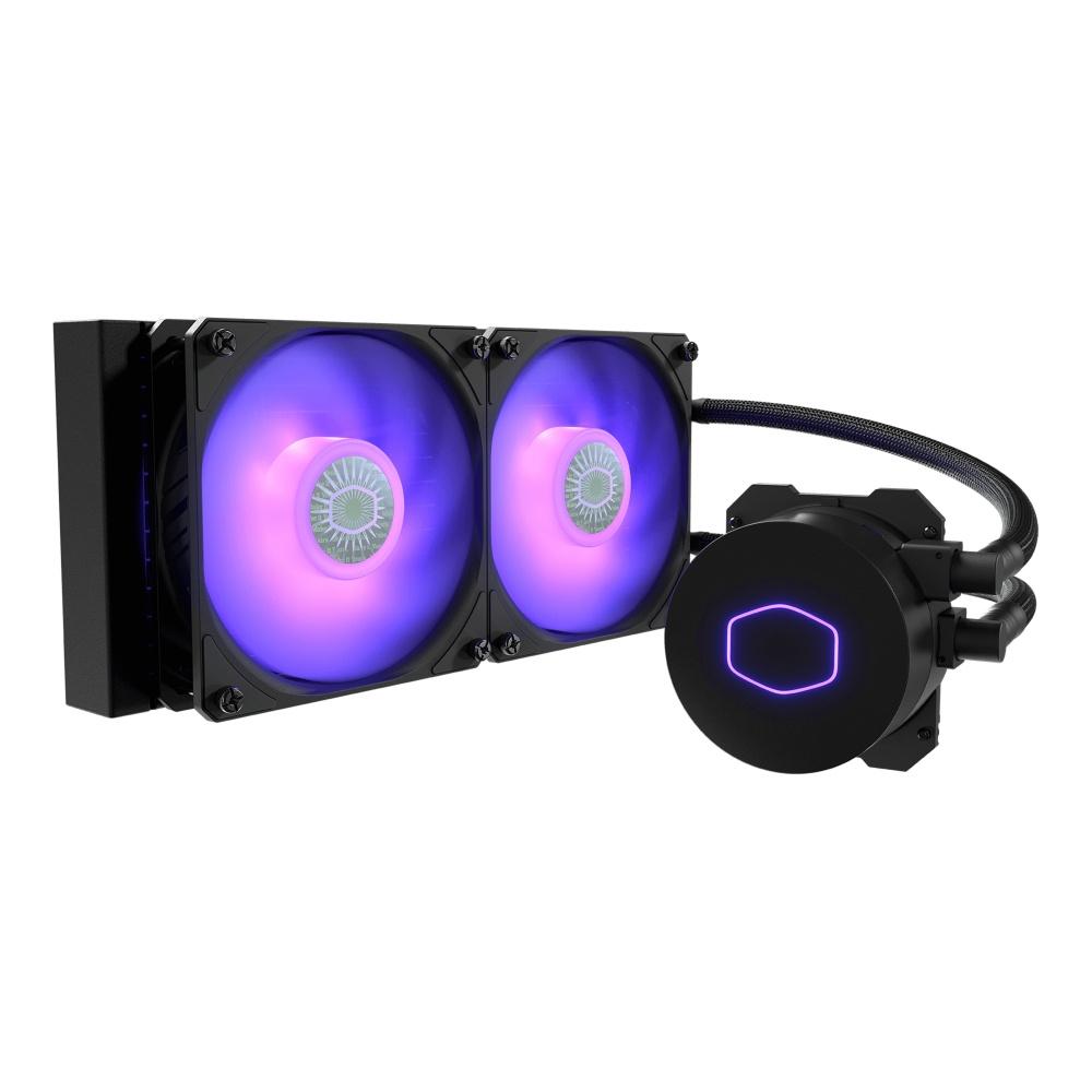 CyberPuerta Cooler Master MasterLiquid ML240L V2 RGB Enfriamiento Liquido para CPU, 2x 120mm, 650 - 1800RPM