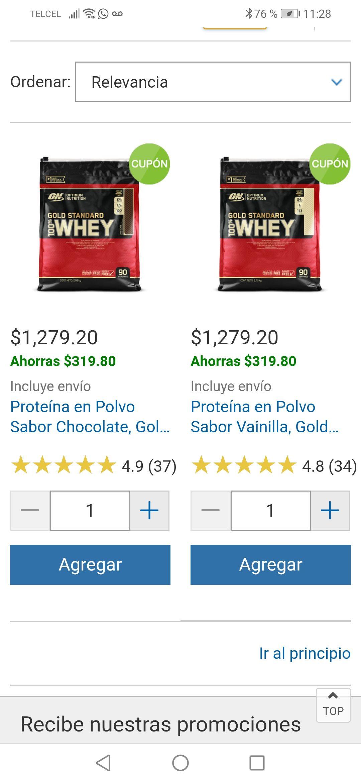 Costco: proteína Gold Standard Whey de Optimum Nutrition