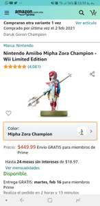 Amazon: Mipha zora champion amiibo