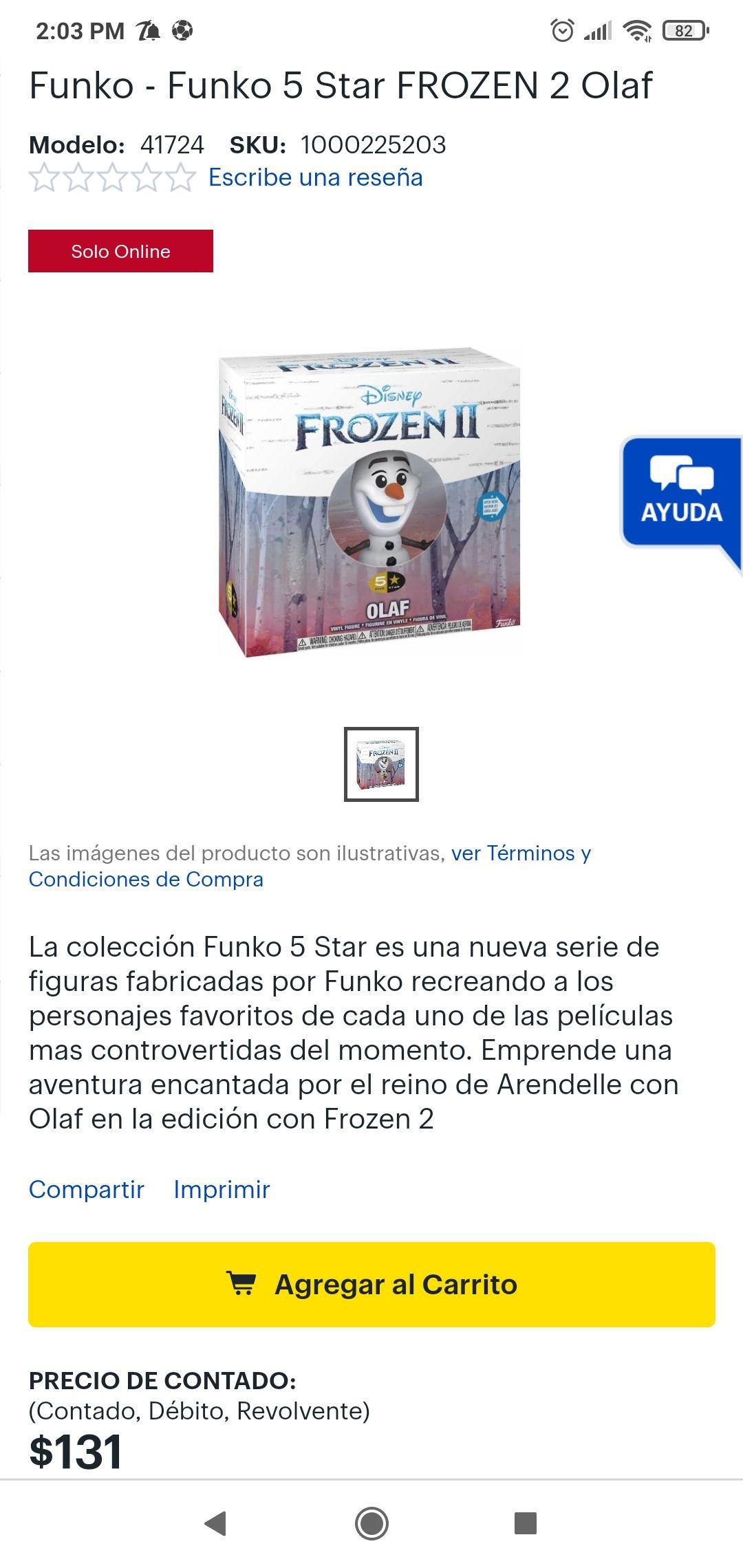 Best Buy: Funko 5 Star FROZEN 2 Olaf