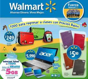 "Folleto Walmart agosto 2: TV LED 32"" y Blu-ray LG $6,490, estufa Mabe $3,290 y más"