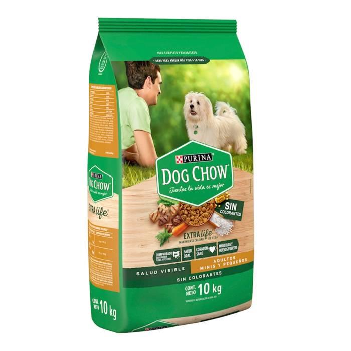 Superama: Alimento para Perro Dog Chow Extra Life Adultos Minis y Pequeños sin Colorantes 10 kg