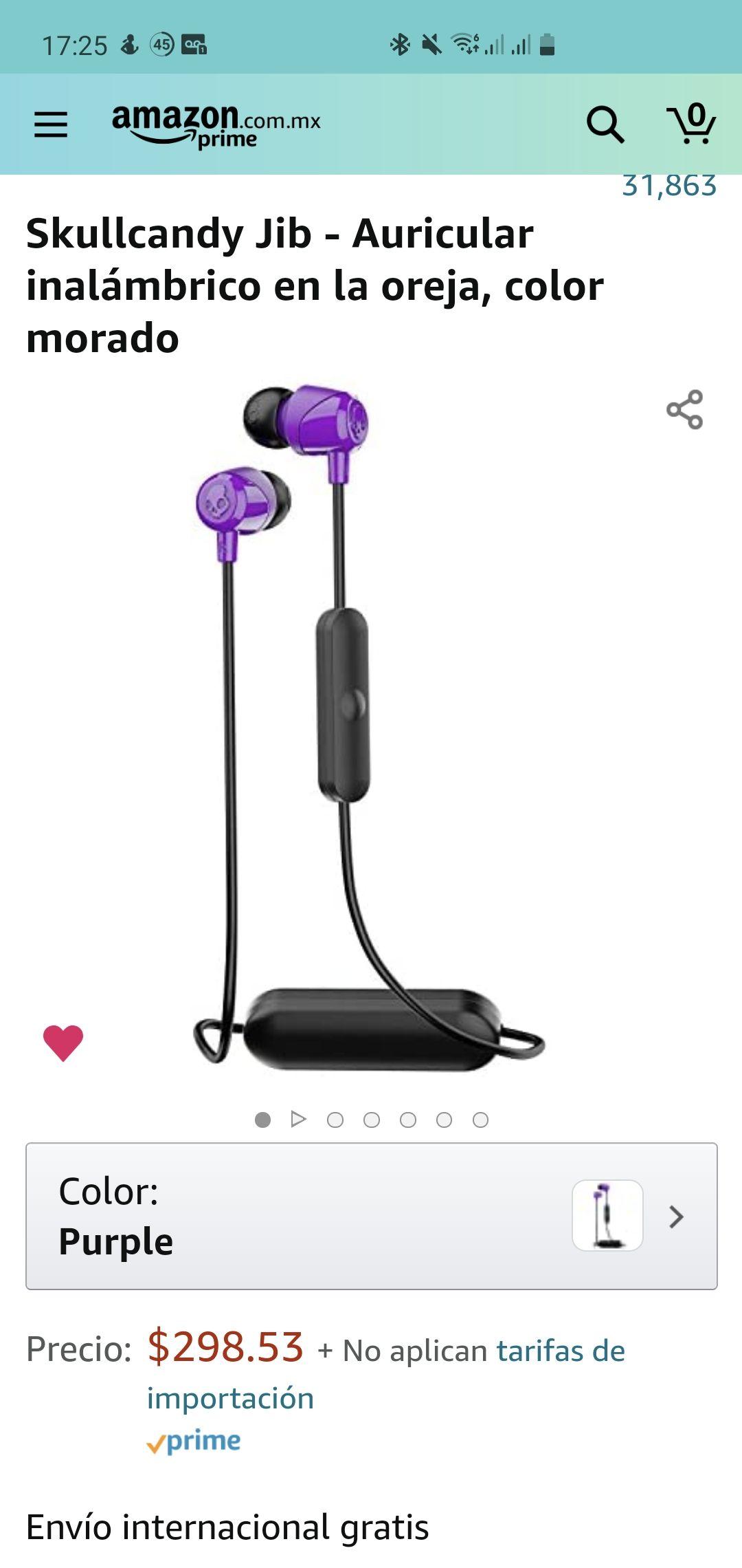 Amazon: audífonos inalámbricos Skullcandy Jib