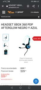 Game planet: HEADSET XBOX 360 PDP AFTERGLOW NEGRO Y AZUL