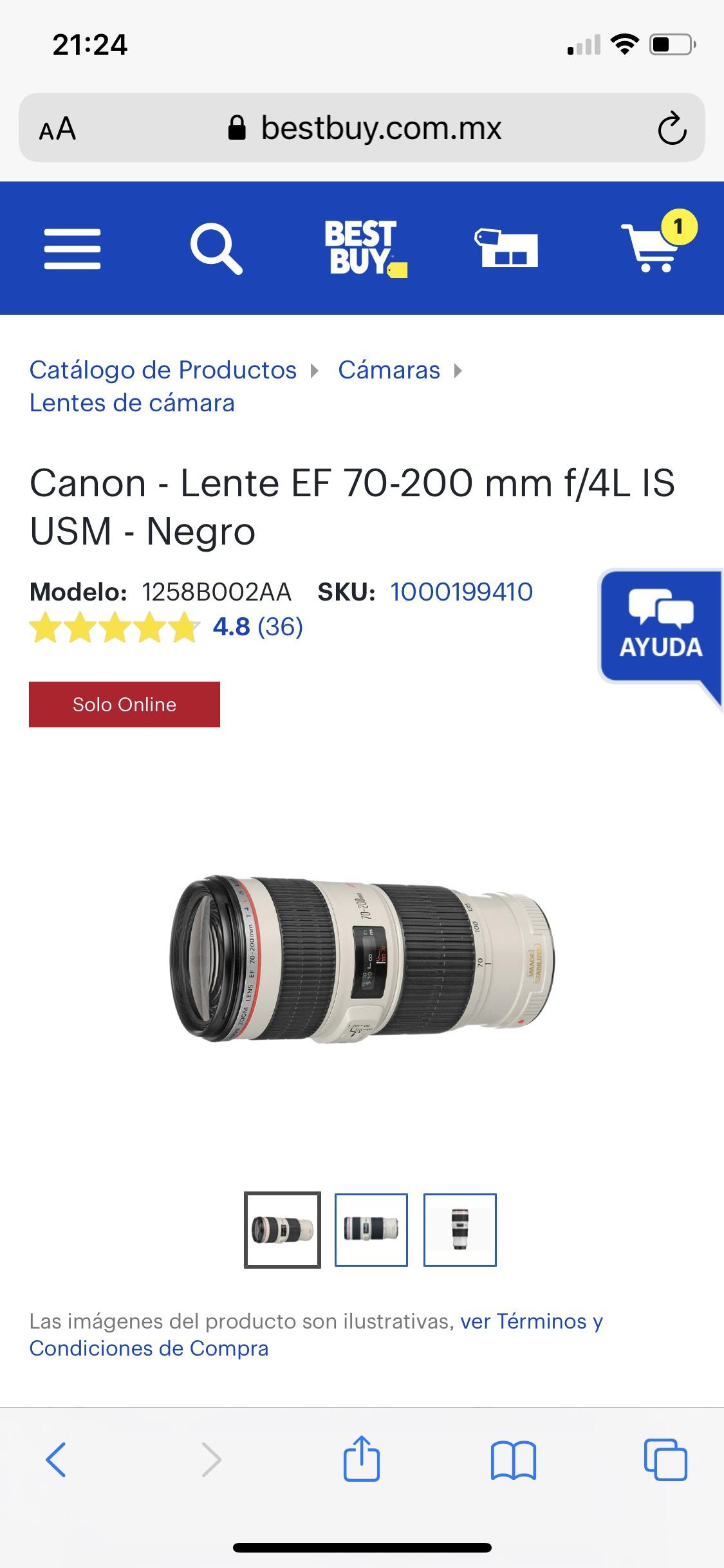 Best Buy: Lente canon descuentaso