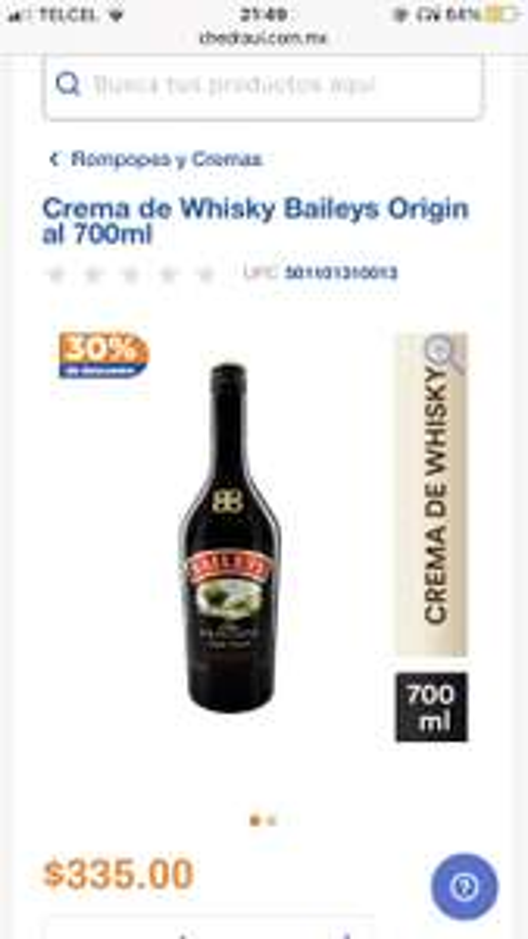Chedraui: Baileys $234.50