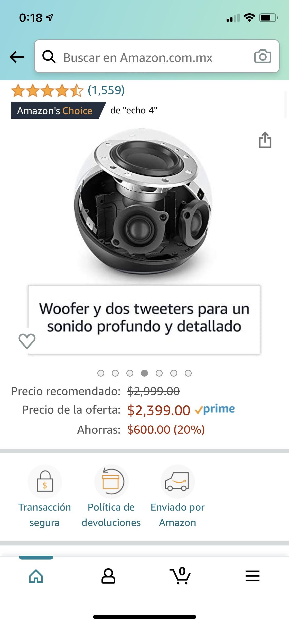 Amazon: Alexa con woofer