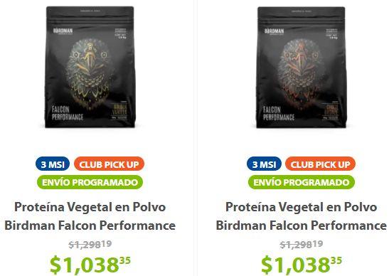 Sam's Club: Proteína Vegetal en Polvo Birdman Falcon Performance Sabor Golden Vanilla o Chocolate 1.9 Kg