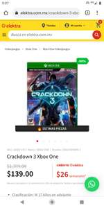 Elektra Crackdown Xbox one Físico