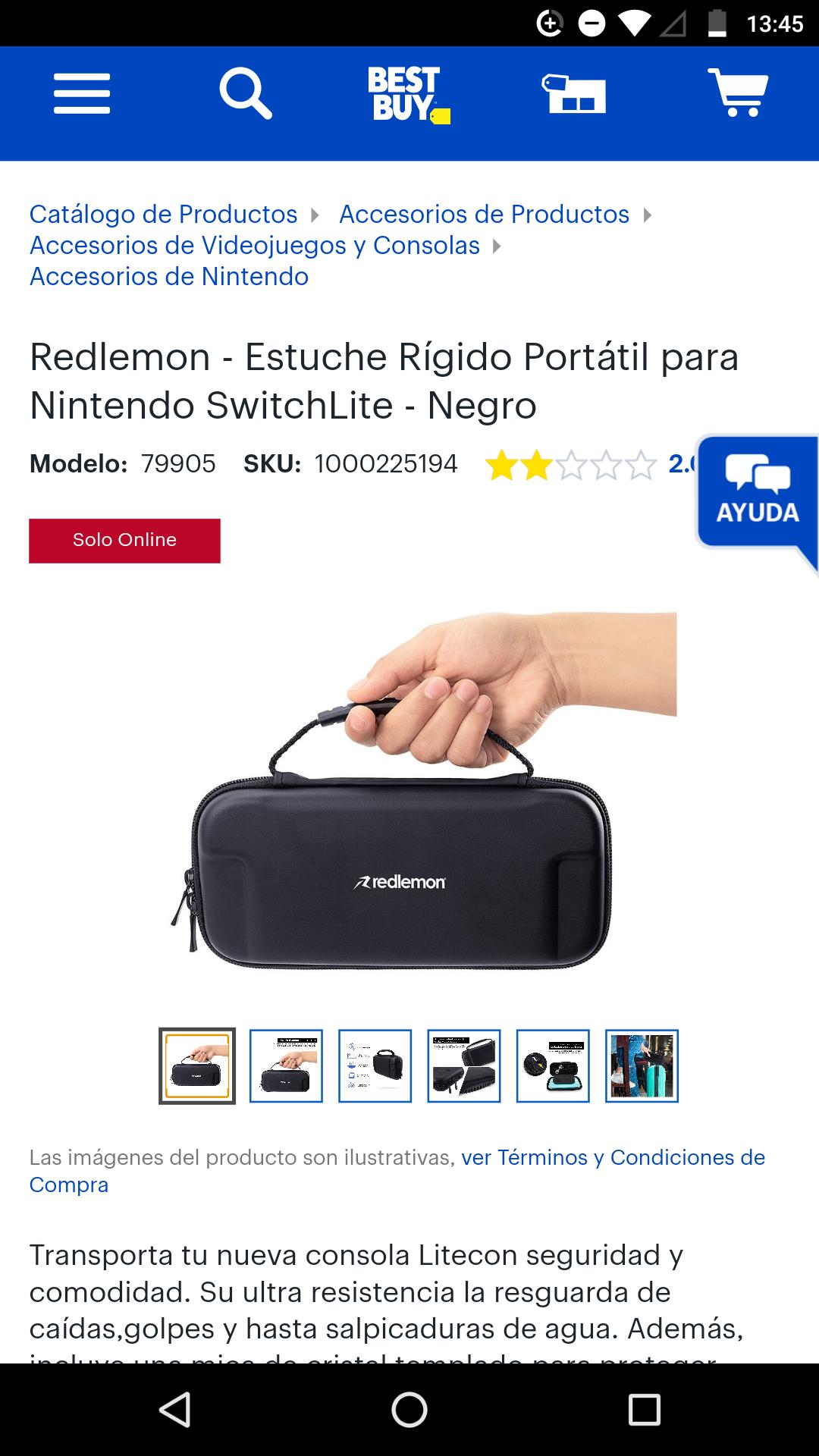 Best Buy: Redlemon - Estuche Rígido Portátil para Nintendo SwitchLite - Negro