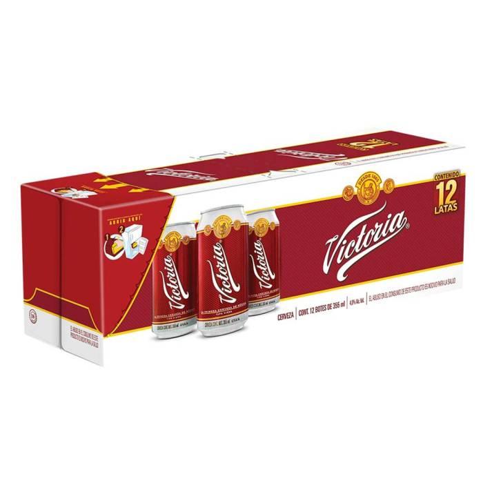Superama: Cerveza oscura Victoria 12 Latas de 355 ml c/u