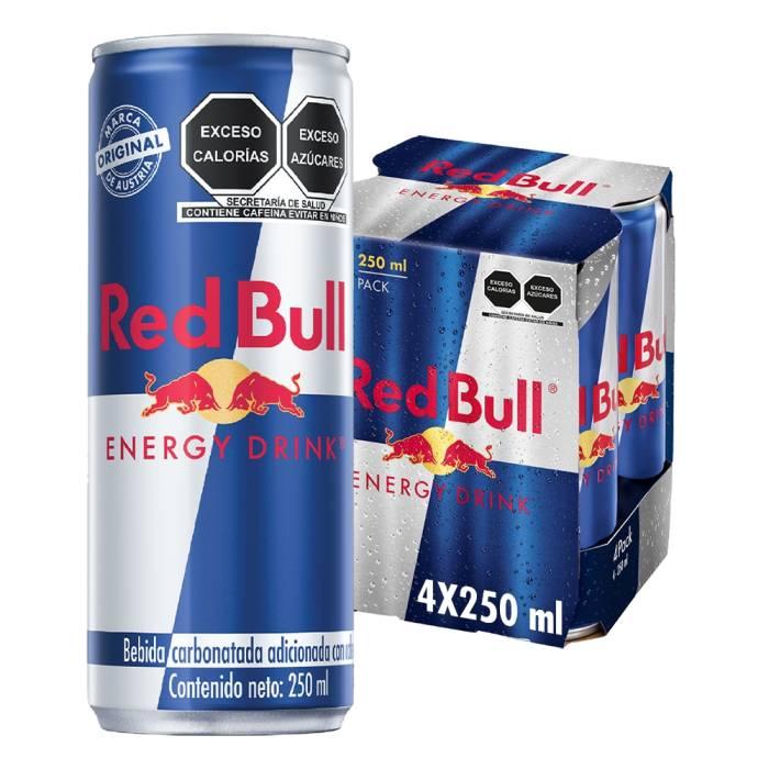Superama: Bebida energética Red Bull 4 latas ONLINE