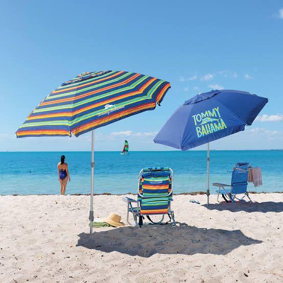 Costco: Tommy Bahama, Sombrilla para Playa (varios colores)