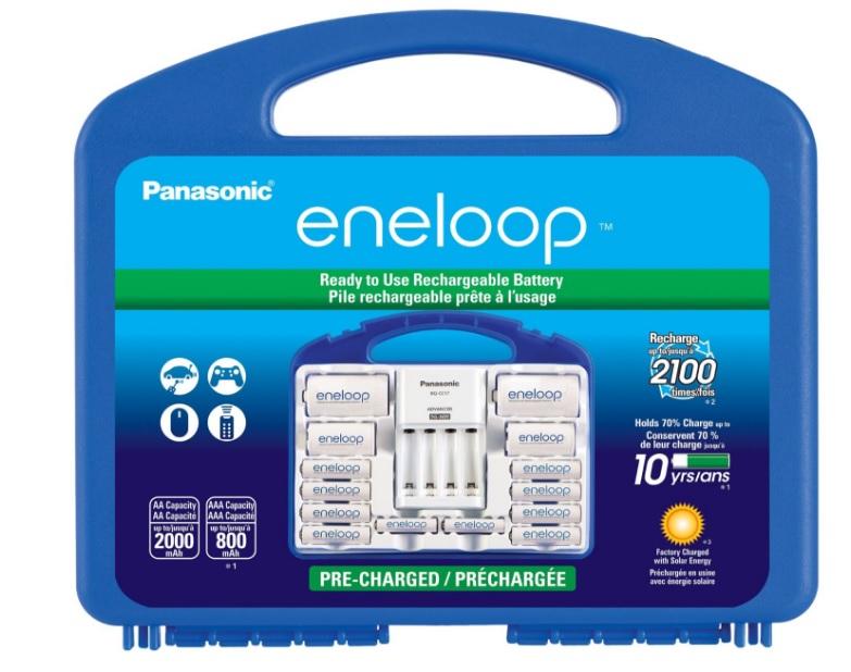 "Amazon: Eneloop Power Pack ""8 pilas AA, 2 AAA, 2 separadores C y 2 D"""