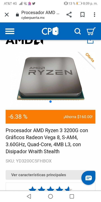 CyberPuerta: Procesador AMD Ryzen 3 3200G