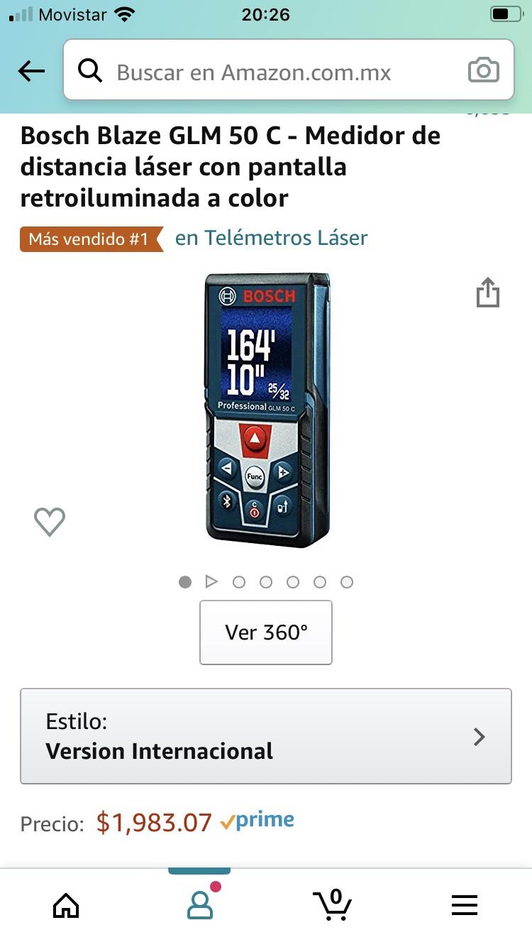 Amazon: Distanciometro Bosch de 50 mts