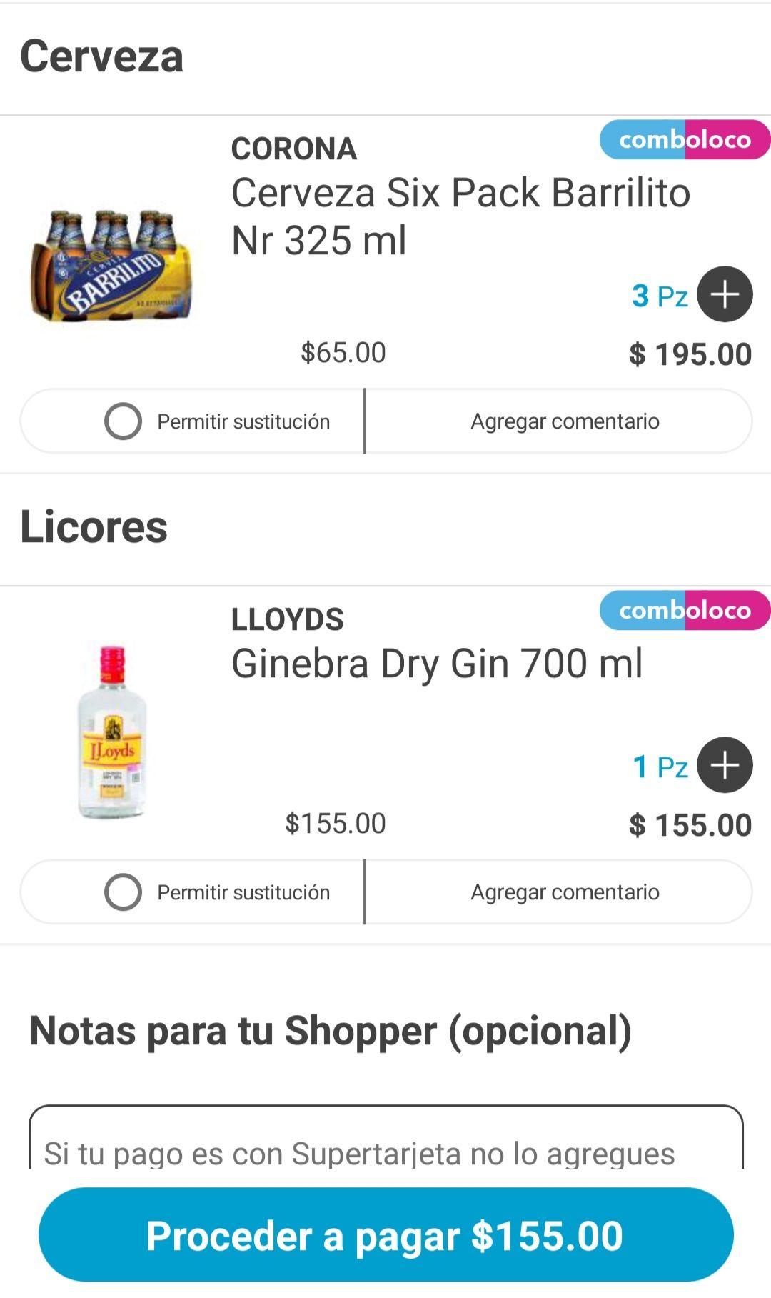 Heb en linea y app: COMBOLOCO COMPRA 1 GINEBRA DE 700ml + 3 SIXPACK DE BARRILITOS