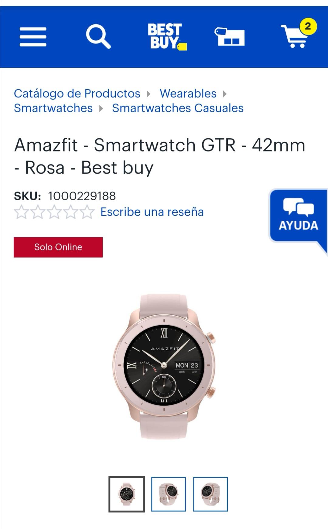 Amazfit - Smartwatch GTR - 42mm - Rosa - Best buy