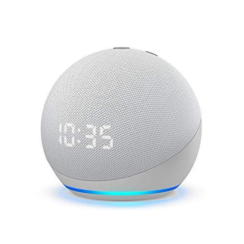 Amazon: Nuevo Echo Dot (4ta Gen) - Bocina inteligente con reloj y Alexa - Blanco DISPONIBLE el 17 de Marzo