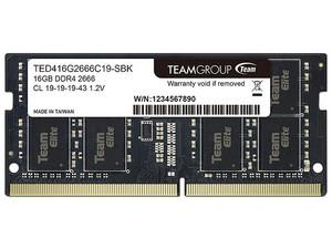 PCEL: Memoria TeamGroup Elite SODIMM DDR4 PC4-21300 (2666 MHz) 16 GB