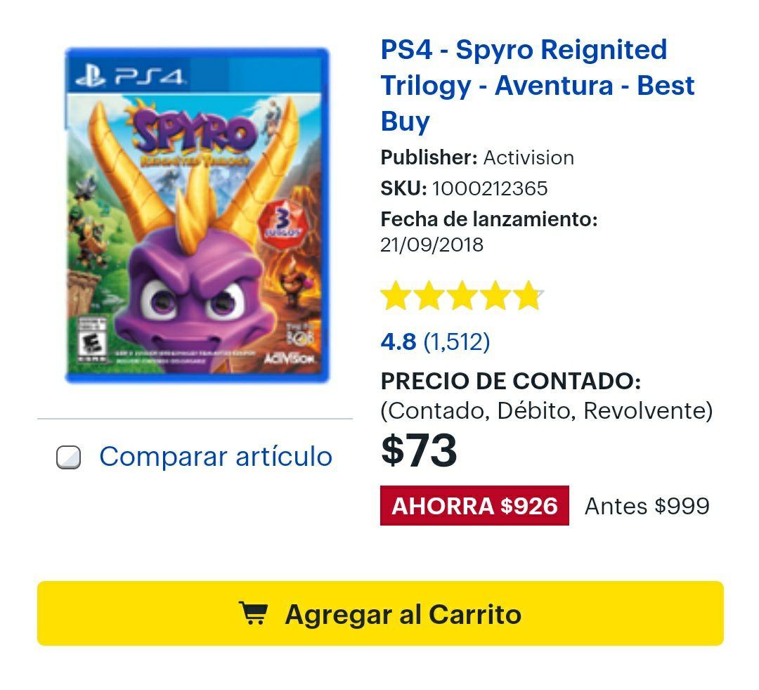 Best Buy: Spyro Reignited Trilogy PS4