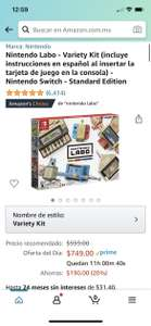 Amazon: kit de variedades Nintendo Labo