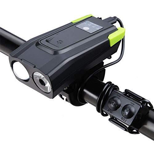 Amazon: Linterna y claxon de Bicicleta a prueba de agua con interruptor táctil, usb recargabley pantalla de alimentación