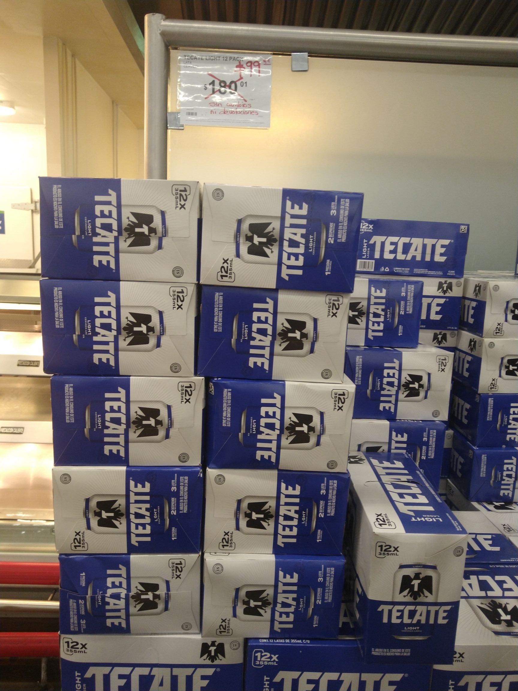 Sam's Club: 12 piezas de Cerveza Tecate ligth