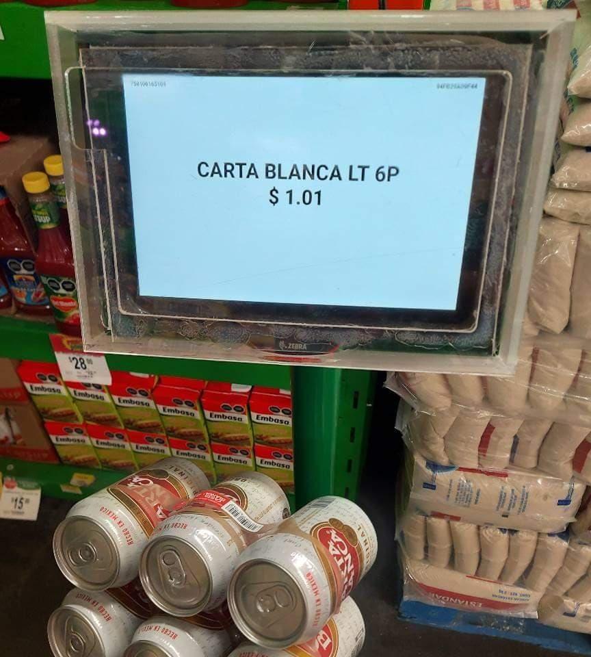 Bodega Aurrera: Six Carta Blanca remateeee